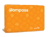 an orange concession compass card