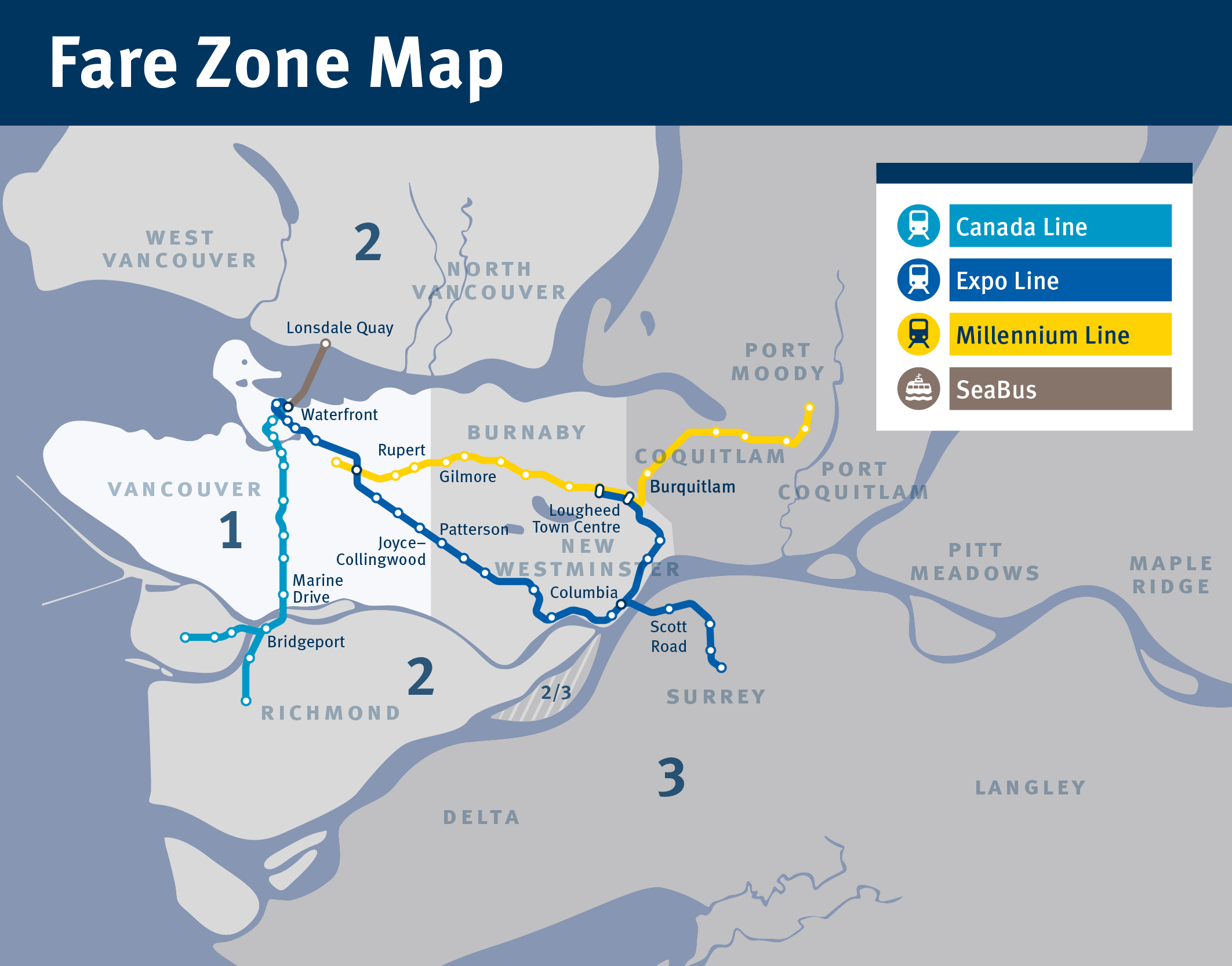 Canada Line Fare Zone Map Visiting Vancouver | TransLink